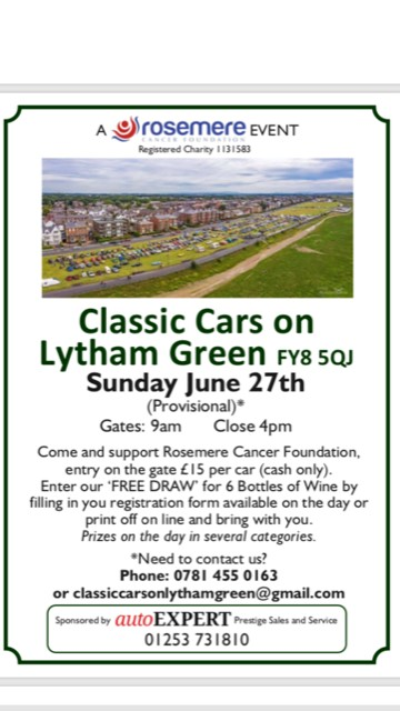 Classic Cars on Lytham Green